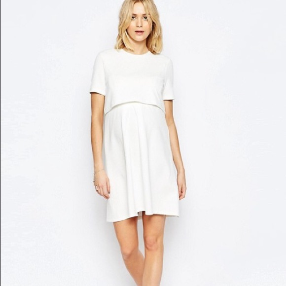 ASOS Maternity Dresses & Skirts - ASOS Maternity NURSING Textured Skater Dress